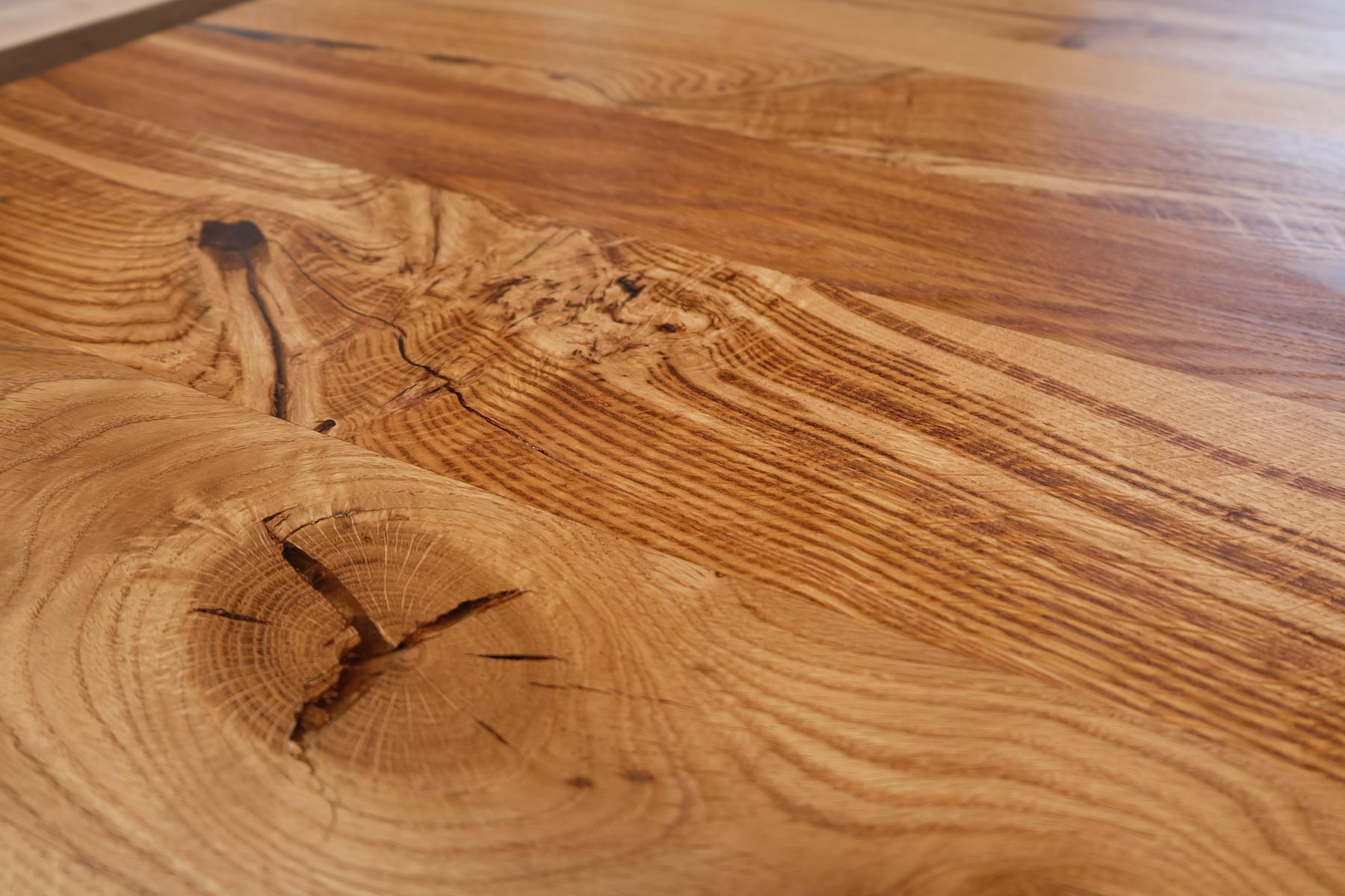 Eiche Tischplatte mit Baumkante Wild 5