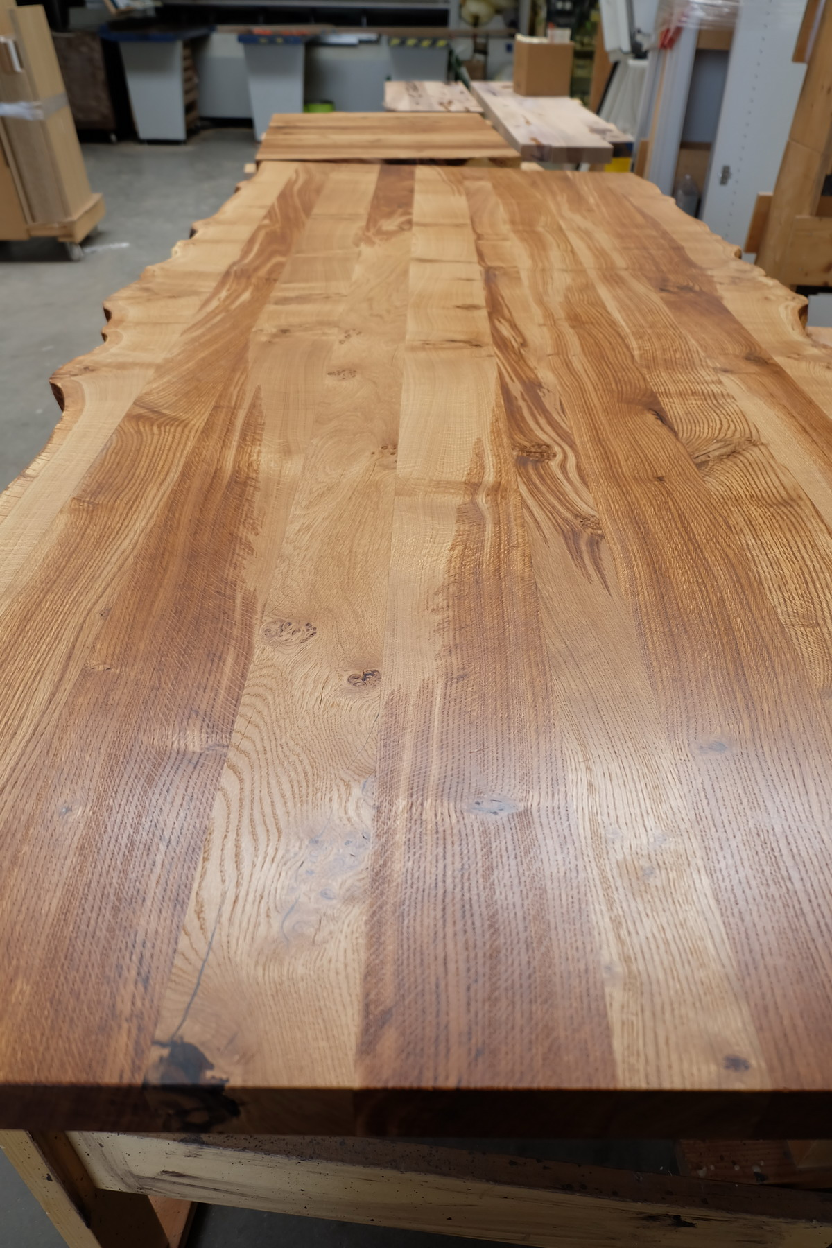 Eiche Tischplatte mit Baumkante Wild 0