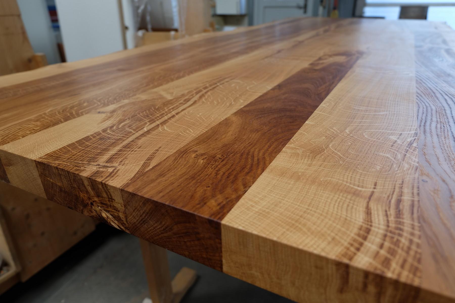 Eiche Tischplatte mit Baumkante Wild 3