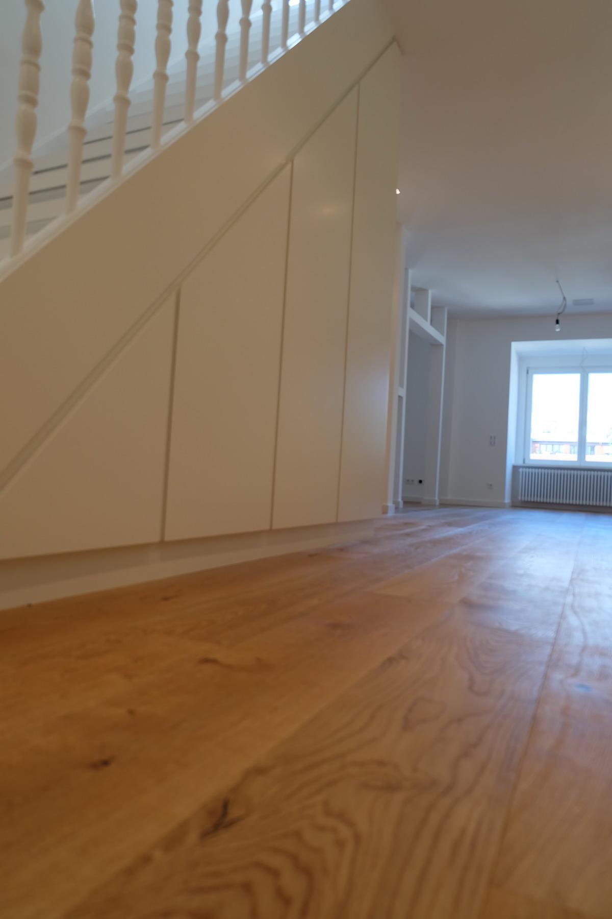 Küche, Boden, Schrank Eiche & Lack 0