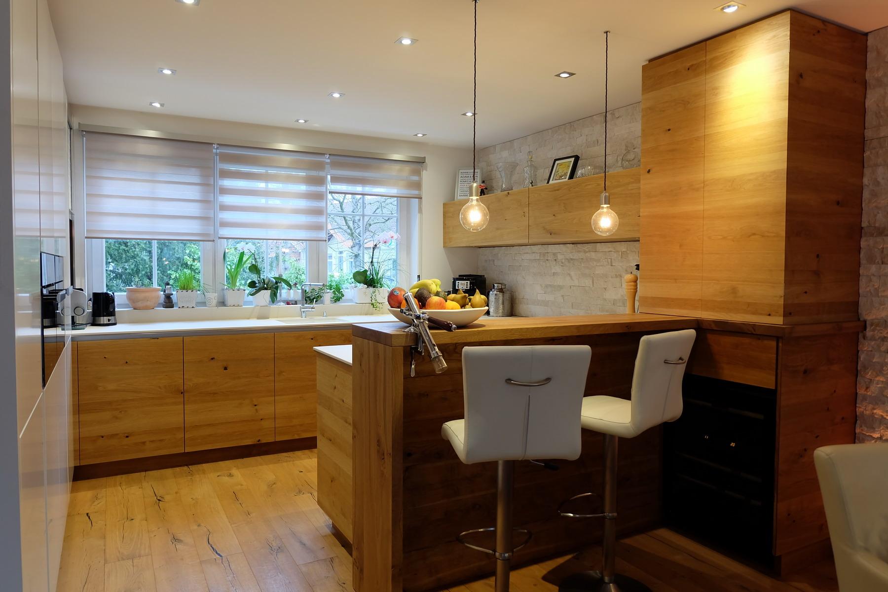 Küche Eiche Stein weiß 0