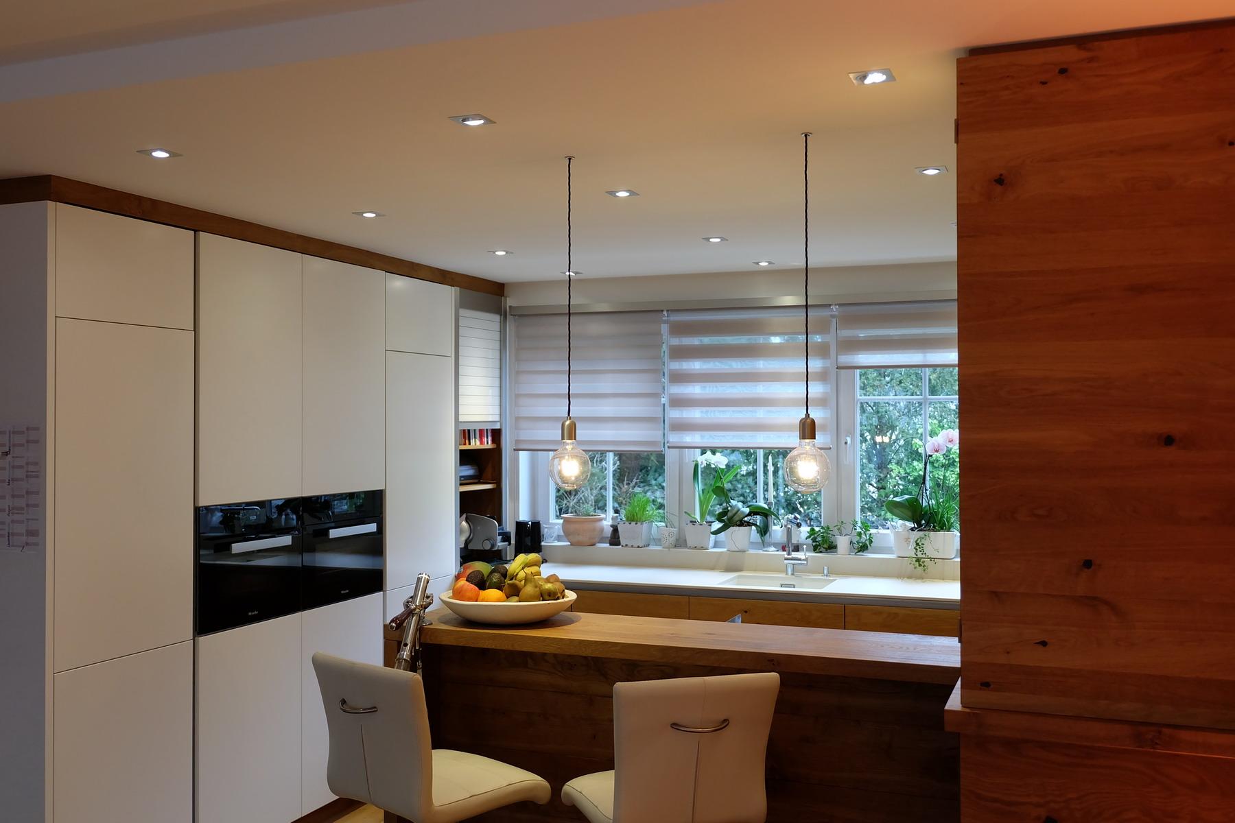 Küche Eiche Stein weiß 3
