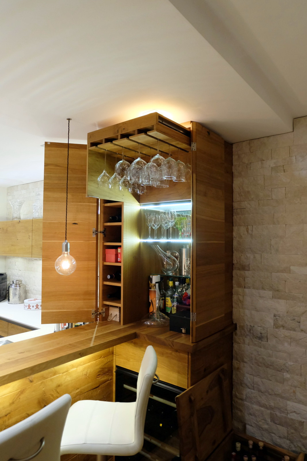 Küche in Eiche und weiß 3